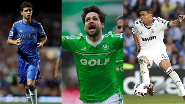 Oscar, Diego ou Casemiro? Você escolhe o brasileiro que mais se destacou no exterior na última semana
