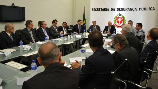 Reunião na Secretaria de Segurança Pública de São Paulo
