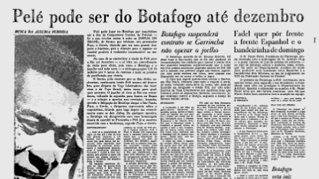 Pelé pode ser do Botafogo, diz jornal