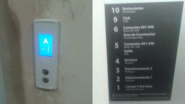 Visor mostra andar -1,que não existe na lista de andares da parede