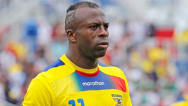 Cristian 'Chucho' Benítez, do Equador, durante amistoso contra a Alemanha