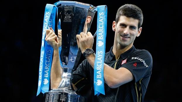 Novak Djokovic Troféu ATP Finals Tênis 16/11/2014