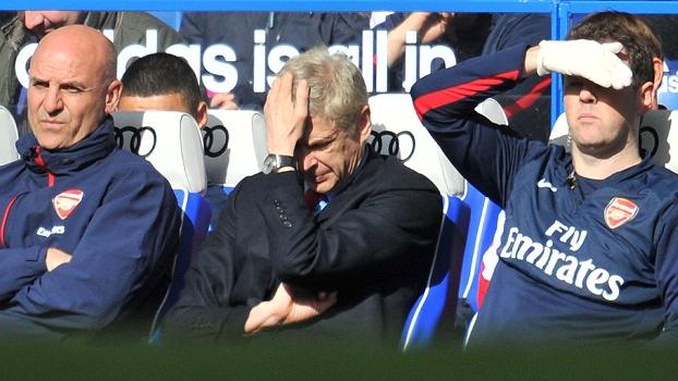 Arsene Wenger lamenta mais uma vez: desta vez, nos 6 a 0 do Chelsea contra o Arsenal