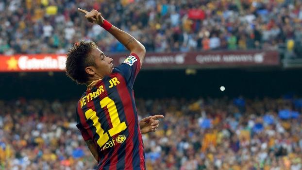 Neymar marcou o gol do Barça no primeiro tempo