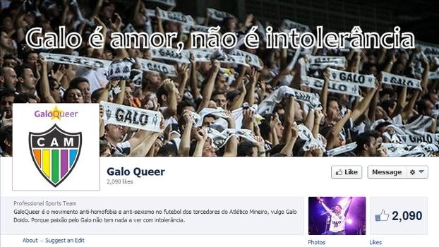 Página da GaloQueer no Facebook: torcida contra a intolerância