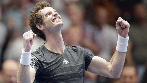 Andy Murray Comemora Conquista ATP Viena Tênis 19/10/2014