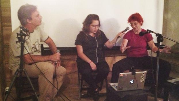 Zé Lobo, Aline Cavalcante e Renta Falzoni, no bate papo sobre o Velo-city 2013.