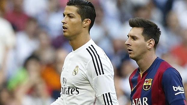 Real, de Ronaldo, sofre contra os melhores; Barça, de Messi, diante dos piores