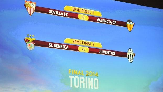 Semifinais da Liga Europa terão Sevilla x Valencia e Benfica x Juventus