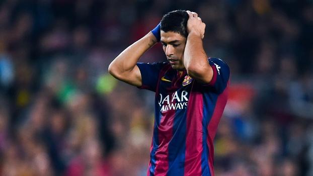 Suárez lamenta gol perdido contra o Celta