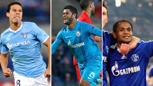 Hernanes, Hulk ou Raffael, do Schalke, qual foi o melhor brasileiro do futebol internacional na última semana?