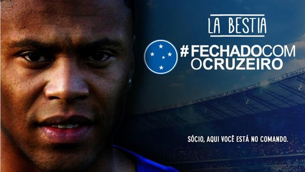 Site oficial do Cruzeiro comemorou o acerto com Júlio Baptista