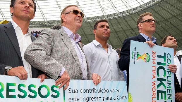 Marin, Ronaldo e Valcke: trio está na cabeça da 'operação Copa do Mundo'