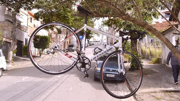 Bike usada na pedalada de Bia Ferragi pela cidade
