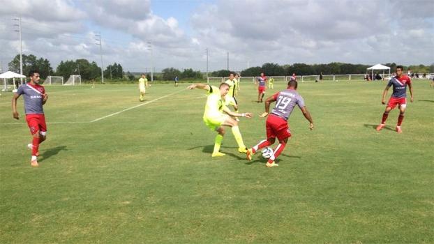 São Paulo atropelou o Jacksonville FC em jogo-treino em Orlando, nos Estados Unidos