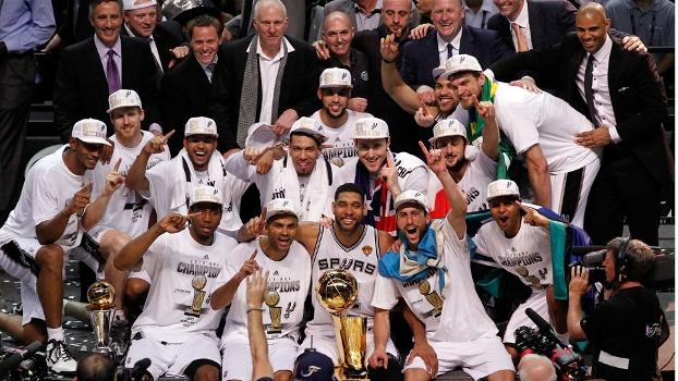 Spurs, campeão pela quinta vez na história da NBA