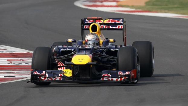 Sebastian Vettel, da Red Bull, foi o mais rápido e sai na frente no GP da Índia