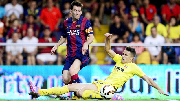 Gabriel Paulista Villarreal Messi Barcelona Campeonato Espanhol 31/08/2014