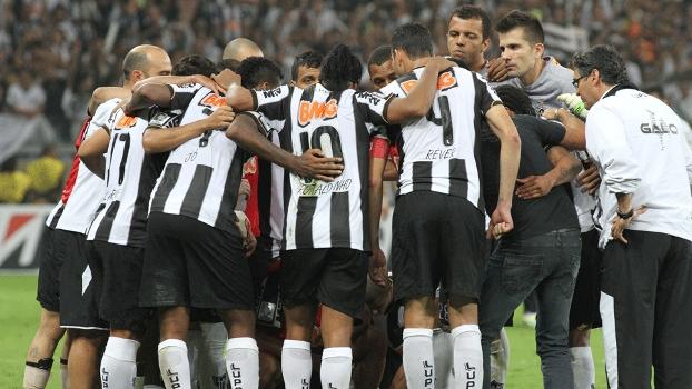 União do Atlético-MG antes da prorrogação