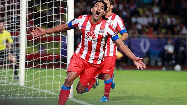 Falcao Garcia fez três gols na vitória do Atlético de Madri sobre o Chelsea