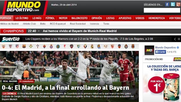 'O Real vai a final atropelando o Bayern', publicou o Mundo Deportivo