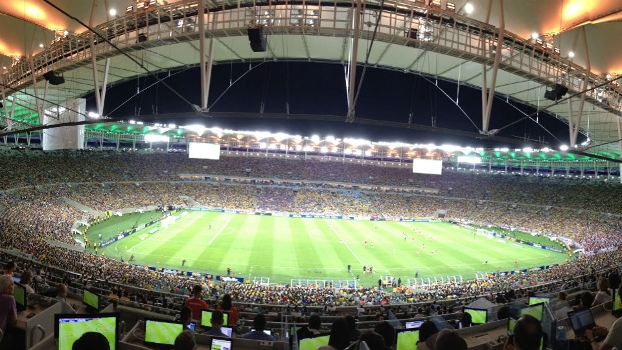 Maracanã durante amistoso entre Brasil e Inglaterra