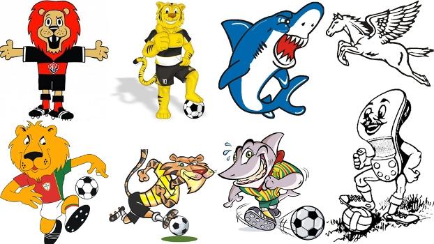 Resultado de imagem para mascotes clubes