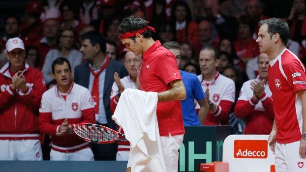 Roger Federer perdeu para Monfils