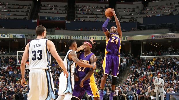 Kobe não evitou a derrota dos Lakers