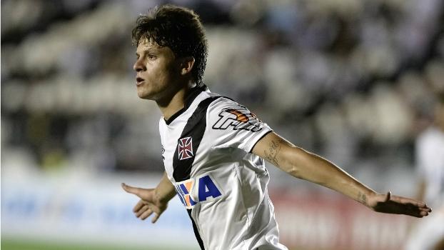 Crispim marcou seu primeiro gol pelo Vasco contra o Bragantino, na última rodada