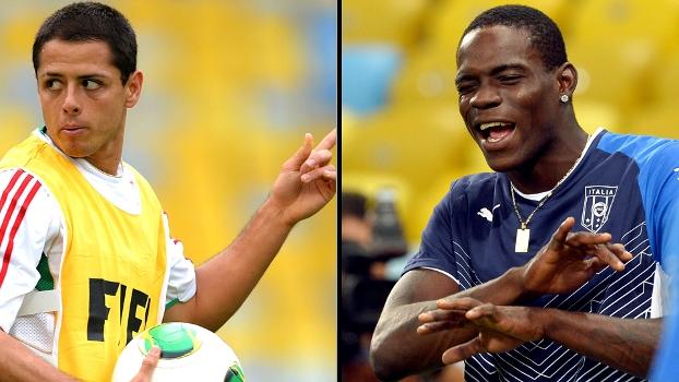 Chicharito e Balotelli: astros de suas seleções duelam na estreia da Copa das Confederações