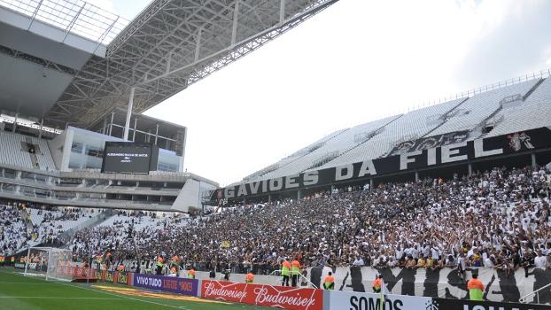 Torcidas organizadas estiveram presentes na inauguração da Arena Corinthians