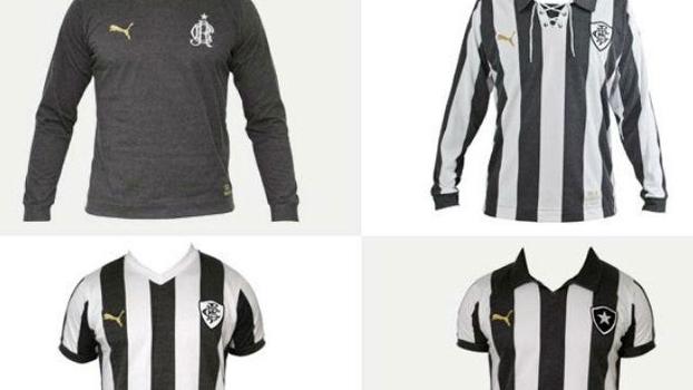 bac986d630e99 Linha 'retrô' de camisas de Botafogo