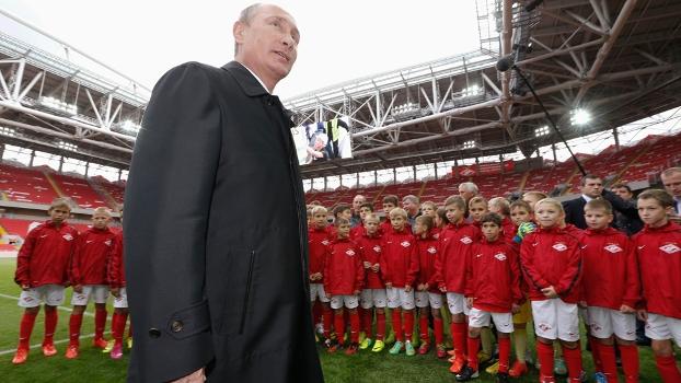 Vladimir Putin Inauguração Estádio Spartak Moscou Rússia 27/08/2014