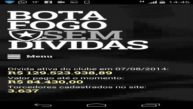 Botafogo sem dívidas: R$ 95 mil pagos