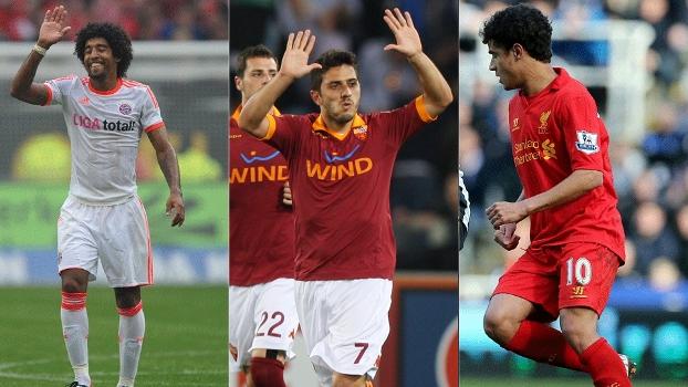 Dante (Bayern de Munique), Marquinho (Roma) ou Philippe Coutinho (Liverpool)? Quem foi o melhor da semana?