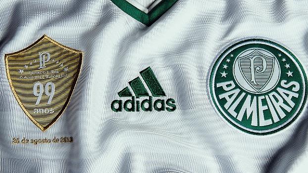Palmeiras Camisa Comemorativa 99 Anos Peitoral