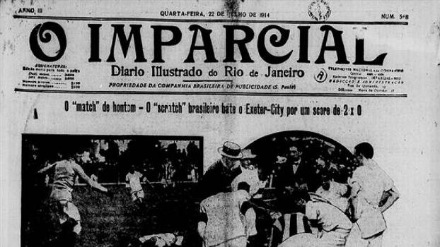 Jornal em 1914 noticia a estreia do 'scratch' brasileiro