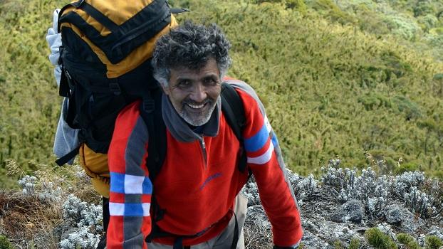 Waldir, feliz na última subida, que dá acesso ao Alto dos Ivos