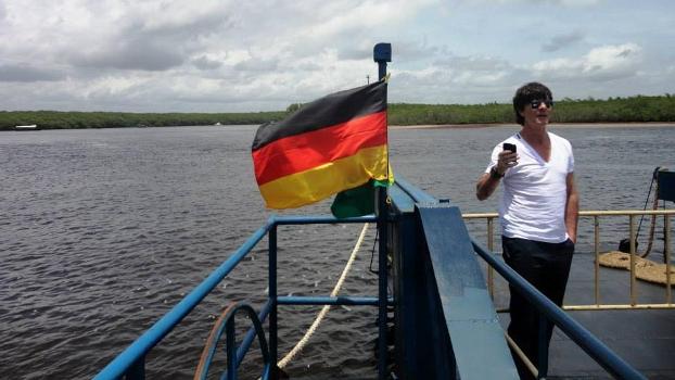 O técnico da Alemanha, Joachim Löw, esteve em Santo André no início do mês