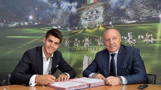 Morata assinou contrato de cinco anos com a Juventus