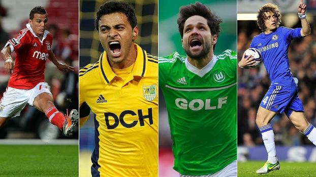 Lima, Cleiton Xavier, Diego e David Luiz, qual deles fez o gol brasileiro mais bonito de abril no exterior? Vote!