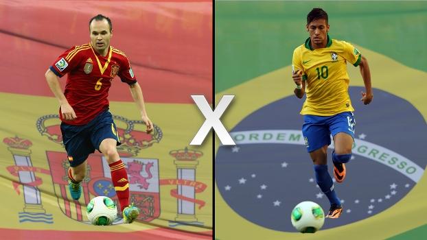 Espanha, de Iniesta, e Brasil, de Neymar: potências do futebol mundial se enfrentam na final da Copa das Confederações