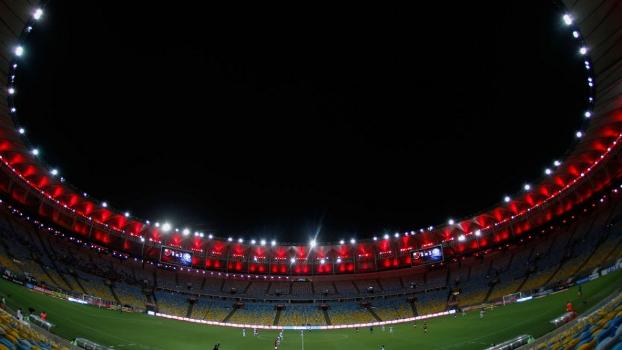 Maracanã na partida entre Flamengo e Barra Mansa, em 4 de fevereiro de 2015