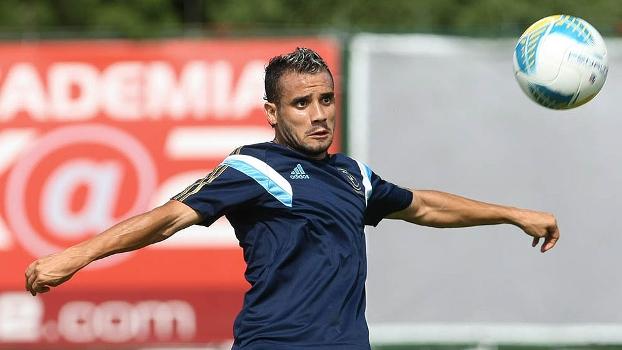 Maikon Leite em treino do Palmeiras