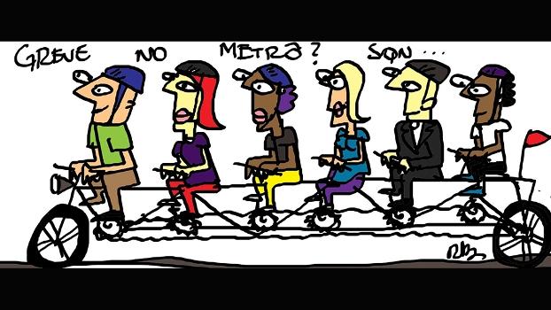 Em dias de greve, ciclistas já conhecem a solução