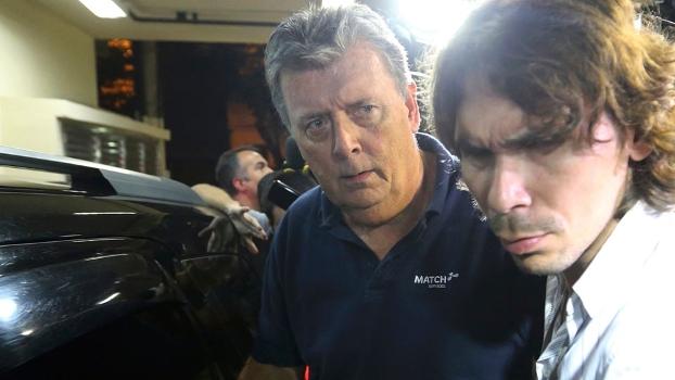 Raymond Whelan, diretor da Match, durante sua prisão no Rio de Janeiro