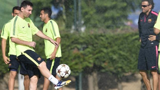 Messi Luis Enrique Treino Barcelona 20/10/2014
