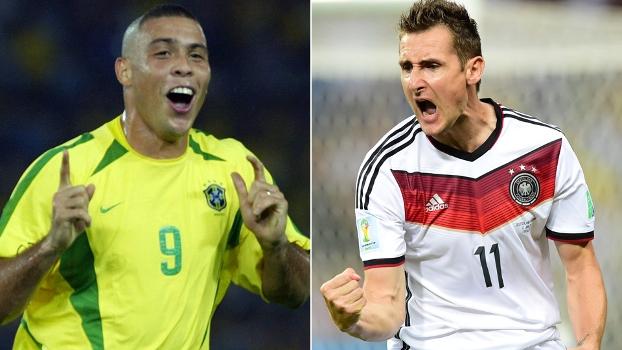 Ronaldo e Klose agora são, juntos, os maiores artilheiros das Copas