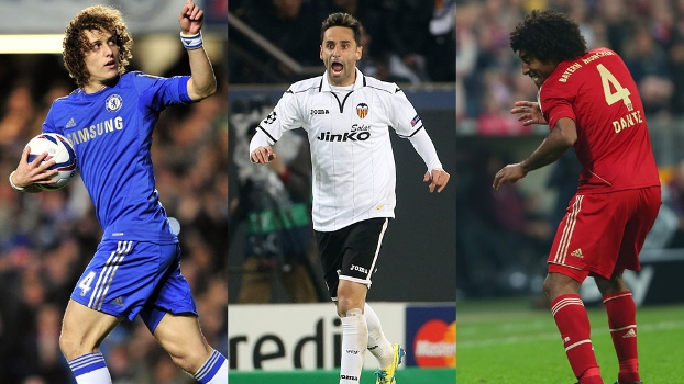 David Luiz, Jonas ou Dante? Quem foi o melhor brasileiro do futebol internacional na última semana?